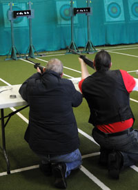 Rifle shooting - a new activity for respite 2013